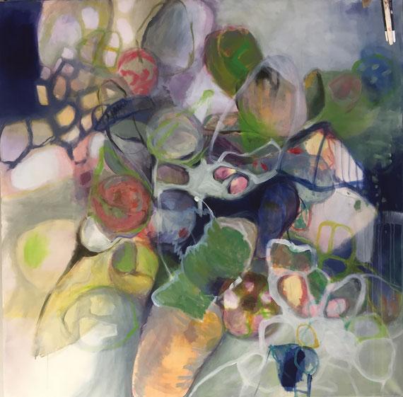 """Acht Blickwinkel""  1,5x1,5m  Acryl a.Canvas"
