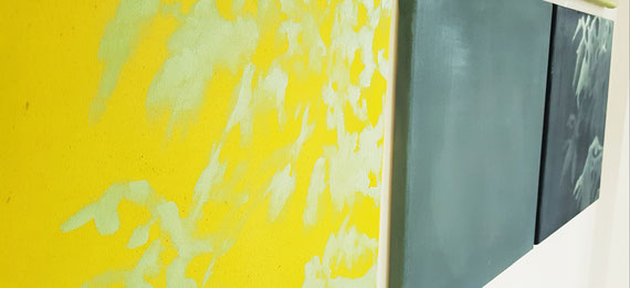 Frühlingserwachen 0,4x0,4m Acryl a Leinwand.Serie