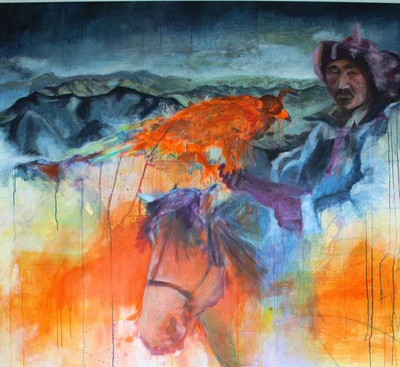 """""""Tsetserleg""""   1,7mx1,5m   Acryl a. Canvas,  1200€"""