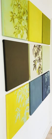 Frühlingserwachen 0,4x0,4m Acryl a Leinwand.Serie 540€