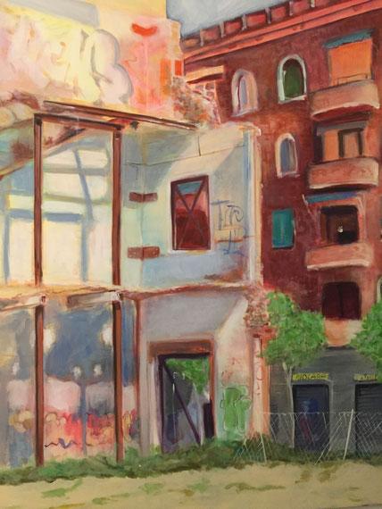 """""""Barcelona 1mx1,20m  Acryl a.Canvas,  580€"""