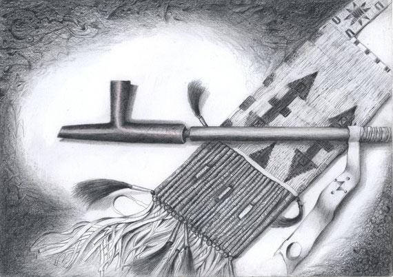 Heilige Pfeife  30x21 Bleistift 10.2012