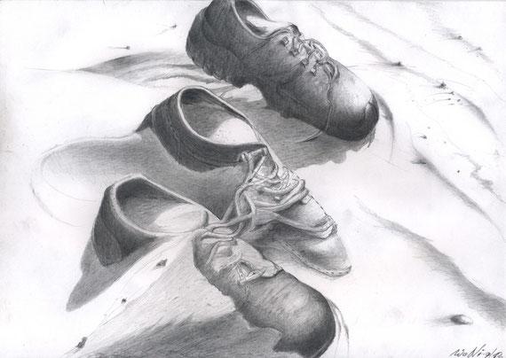 Sand im Schuh  30x21 Bleistift 9. 2012