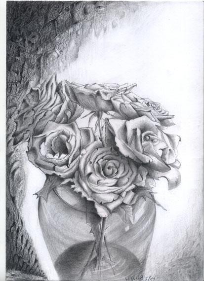Die Rosen und der Tod 30x21 Bleistift   7.2011