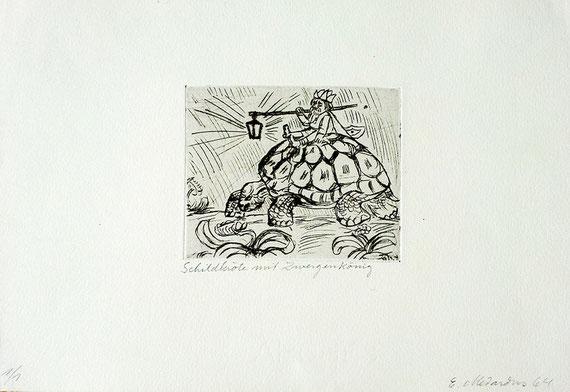 Schildkröte mit Zwergenkönig