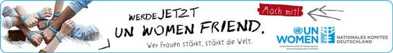 UN Women friend Spendenaktion, online-Banner