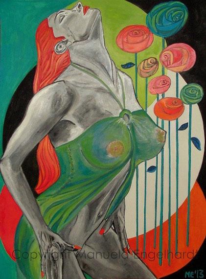 Titel: Rose en Vie - Copyright Manuela Engelhardt - www.artboxmunich.de