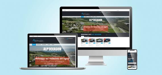 Alp'Occasion | Site web vitrine Wordpress