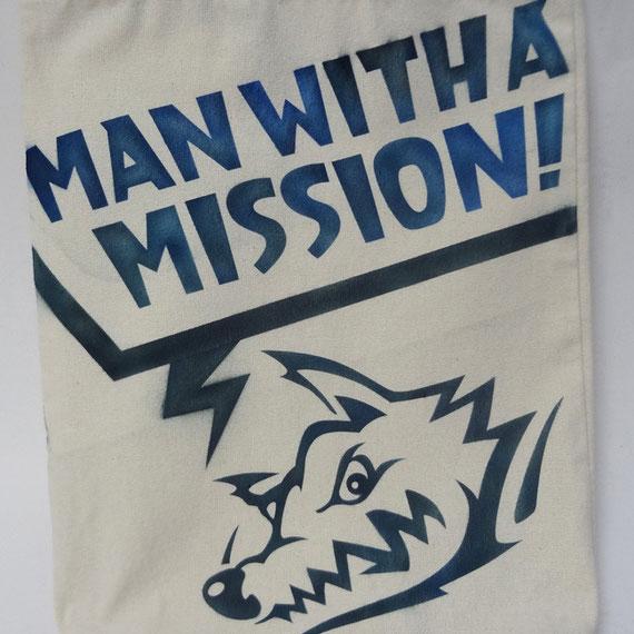 トートバック,エアブラシ,MAN WITH A MISSION