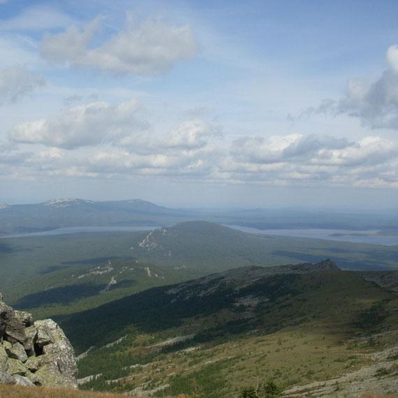 Вид с Вершины Нургуш на Зюраткуль