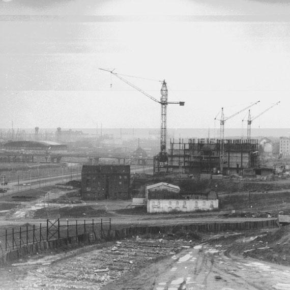 старый центр Кёнигсберга 70-е годы Строительство дома Советов