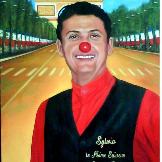 Sylvio Bolinio mime suiveur des champs élysées