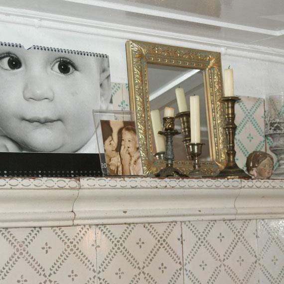 Stillleben auf dem Kachelofen - mein wunderschöner Jorin Kalender ist auch schon vorübergehend plaziert.