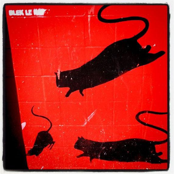 ※1:ブレックの象徴的なステンシル作品である『ネズミ』