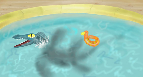 dragon de piscine