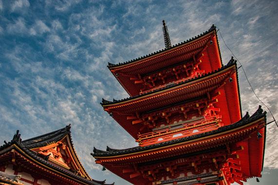 Kiyomizu-dera al tramonto