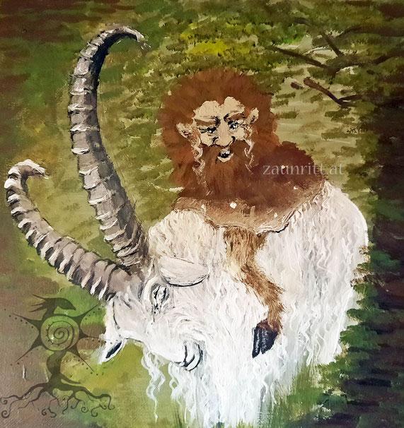Zwerge, die sich um das Vieh am Hof kümmerten nannte man in Russland Domowiye. Sie haben wie Kühe, Schafe und Ziegen- Paarhufe.