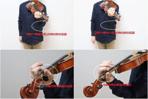 バイオリン 肘 位置 練習方法