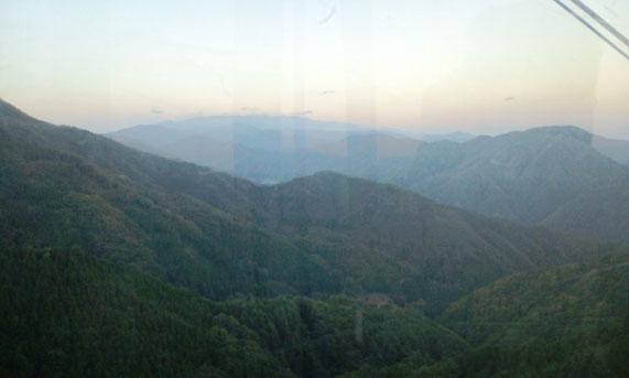 ゴンドラから見る山々