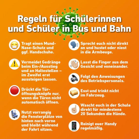 Regeln in Bus und Bahn