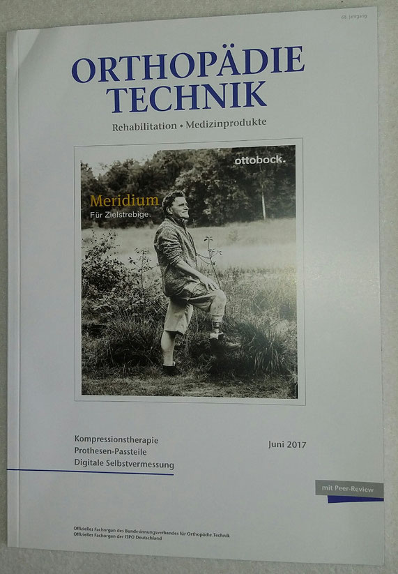 Bild: Juni Ausgabe des Magazin ORTHOPÄDIE TECHNIK