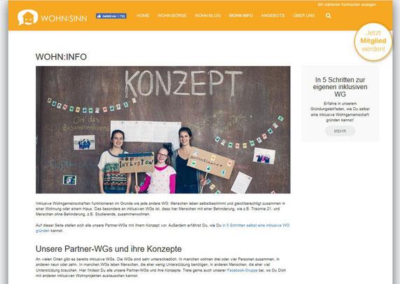Bild der Webseite Wohnsinn punkt org