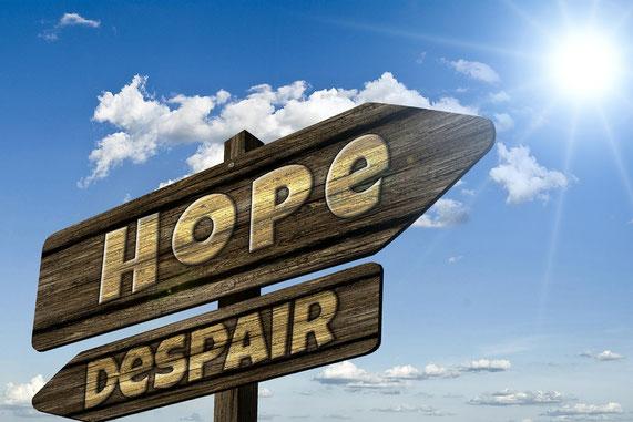 Nicht aufgeben, Nicht den Mut verlieren Schild