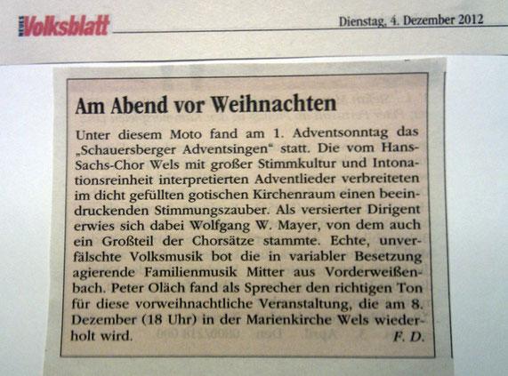 Volksblatt, 04.12.2012