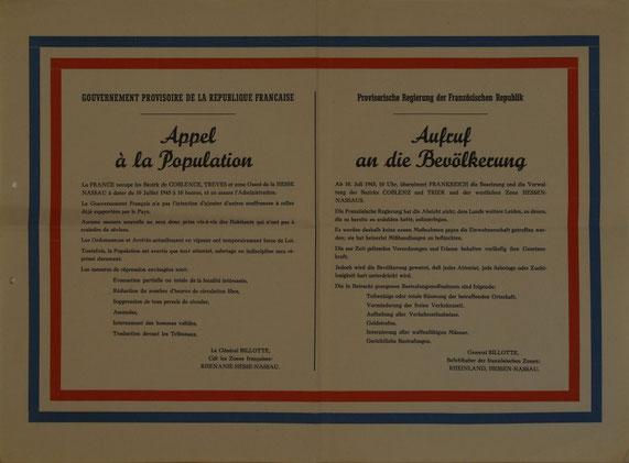 Franz. Deklaration 10.07.1945