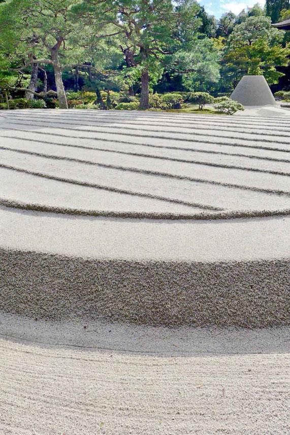 Kyoto Tempelgarten Silberner Pavillon Ginkaku-ji-Tempel