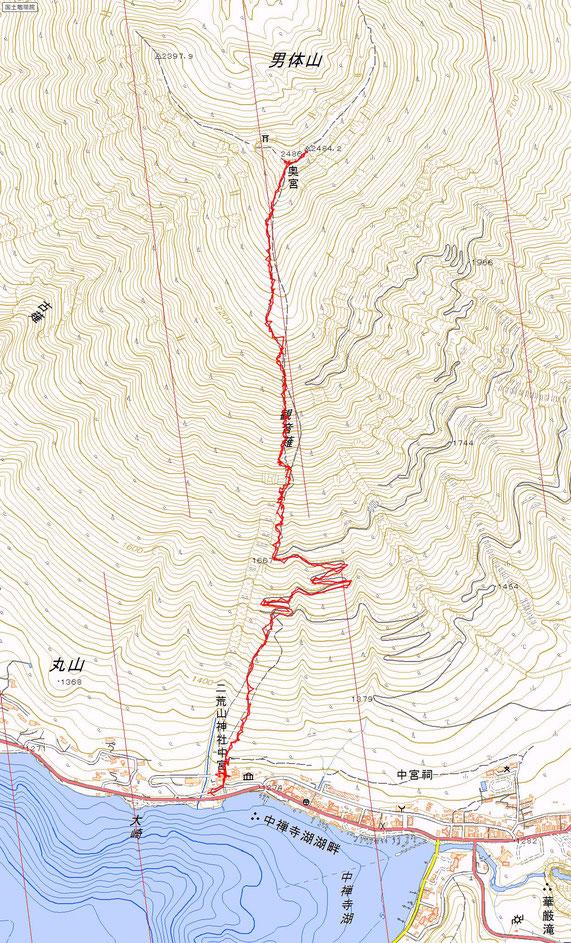 男体山ルート図