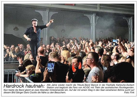 BAROCK AC/DC tribute Karlsruhe Festhalle Durlach 2019 ausverkauft