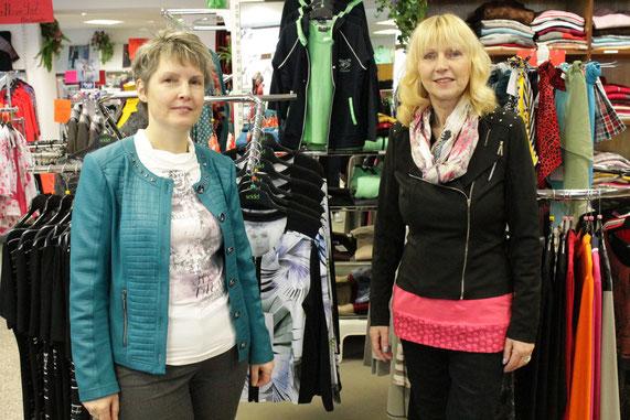 Links Inhaberin Frau Sindermann rechts Verkäuferin Frau Neumann