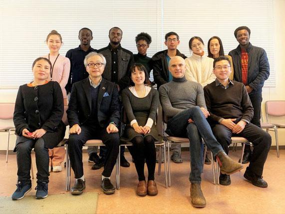 米国・ライス大学とイタリア・ブレイシア大学との、共同研究会議後の集合写真