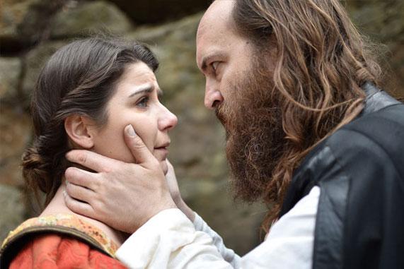 Lady Macbeth and Macbeth in OZACT's production of Macbeth