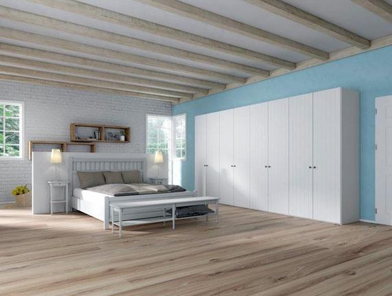 Schlafzimmer Schlafzimmermöbel Schlafen Bett Nachttisch Bettrahmen Schrank Kleiderschrank Drehtürenschrank Holzbett Holzbettrahmen