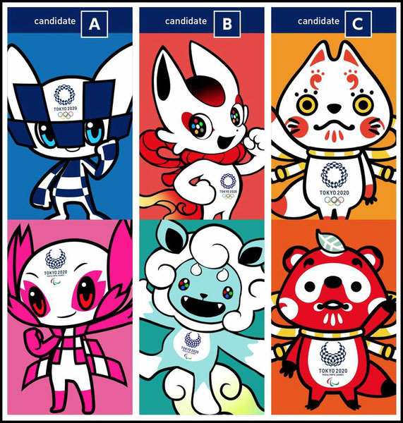 The Tokyo 2020 Olympic & Paralympic Mascot Candidates