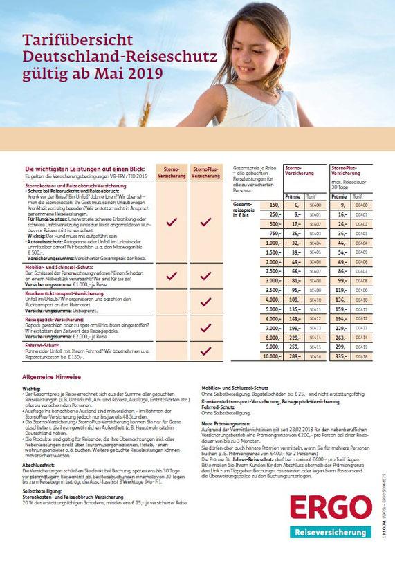 Deckblatt der Broschüre Reiseschutz von A-Z der ERGO Reiseversicherung