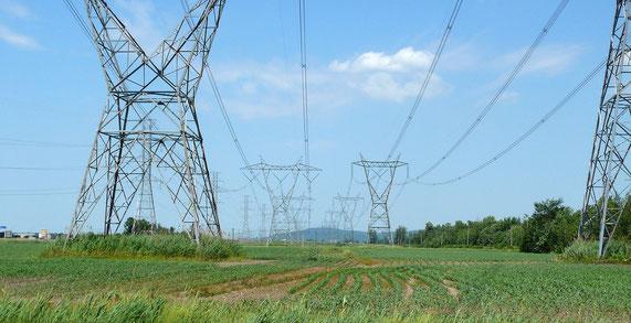 Ligne haute tension d'Hydro-Québec TransÉnergie