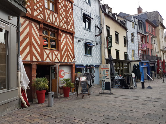 Bunte Fachwerkhäuser in Rouen