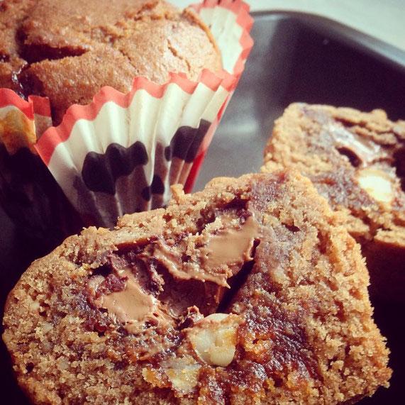 Die Muffins von innen - ohne Dekoration.