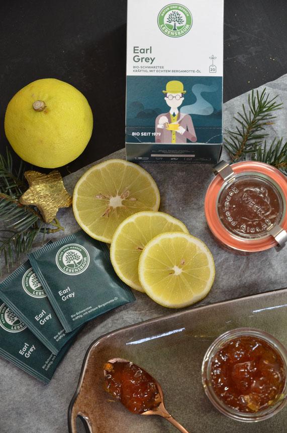 Bergamotten (Hybrid aus süßer Limette o. Zitronatzitrone und Bitterorange) geben dem Chutney eine fruchtig-exotische und unverkennbare Note.