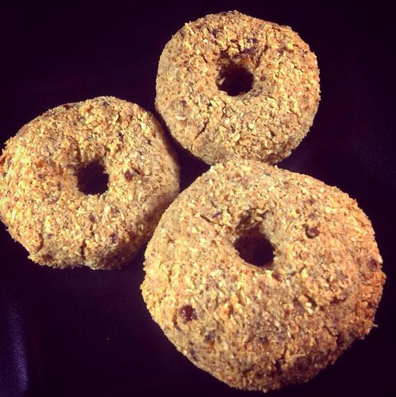 Die Donuts nach dem Trocknen.