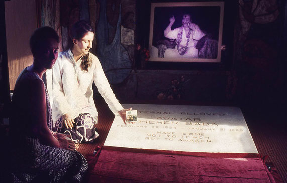 1972 - Meher Baba's Samadhi. Nancy Friedemann & Jean ( wearing white top )