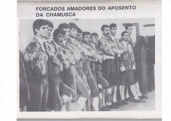 Hoje o Aposento da Chamusca está de parabéns pelos seus 34 anos de vida. Foi a 29 de Julho de 1984 na praça de toiros de Nave da Haver que o grupo fez a sua primeira corrida capitaneados pelo antigo cabo e fundador Tiago Prestes.
