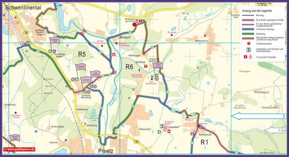R6 mit dem Sattelplatz Parkplatz Rastorfer Kreuz