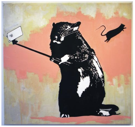 "※8:Blek le Rat ""Selfie Rat"""