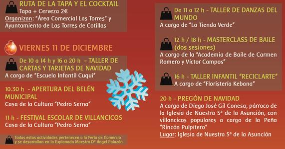 Programa de la Navidad en Las Torres de Cotillas