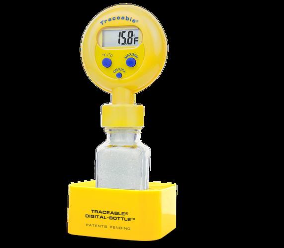 Termómetro digital para refrigerador o congelador con certificado trazable a NIST 4428