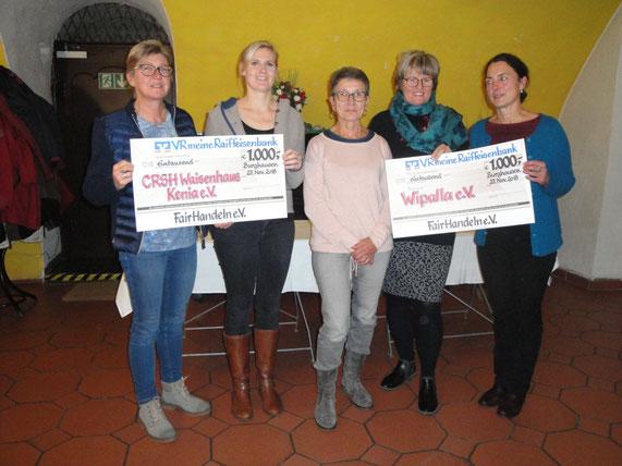 Irmi Polzer, Evelyn Rassmann für Kenia, Käthe Trassl, Birgit Reineke-Reiprich und Monika Stöckl für Bolivien